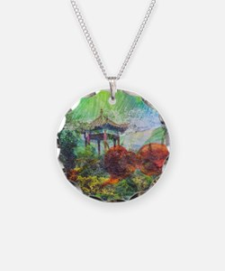 Lillies Collage Necklace