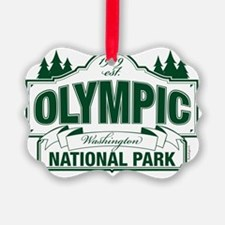 Olympic National Park Green Sign Picture Ornament