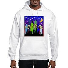 NYC Skyline Nightlife Hoodie