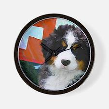 Swiss Berner Puppy 8x7 Wall Clock