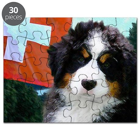 Swiss Berner Puppy 8x7 Puzzle