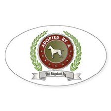 Ridgeback Adopted Oval Decal