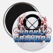 Hockey Grandpa (cross) Magnet