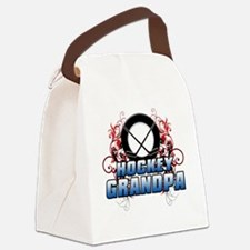 Hockey Grandpa (cross) Canvas Lunch Bag