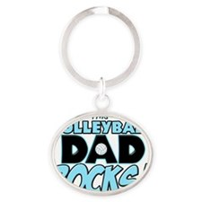 This Volleyball Dad Rocks copy Oval Keychain