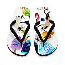 Delightful Dreidels-lettered Flip Flops