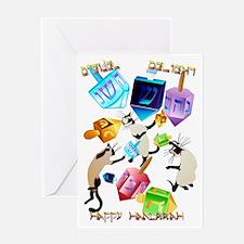 Delightful Dreidels-lettered Greeting Card