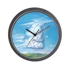 Cumulonimbus hail storm cloud, artwork Wall Clock