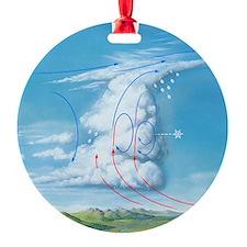 Cumulonimbus hail storm cloud, artw Ornament