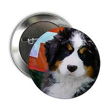 """Swiss Berner Puppy clock 2.25"""" Button"""
