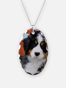 Swiss Berner Puppy clock Necklace