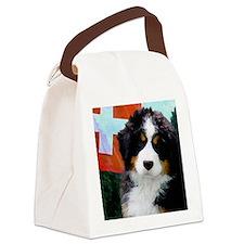 Swiss Berner Puppy Canvas Lunch Bag