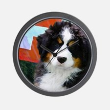 Swiss Berner Puppy Wall Clock