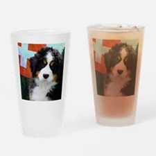 Swiss Berner Puppy Drinking Glass