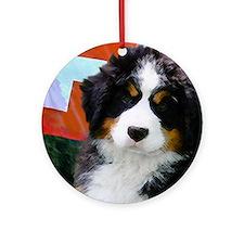 Swiss Berner Puppy Round Ornament