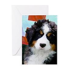 Swiss Berner Puppy Greeting Card
