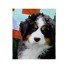 Swiss Berner Puppy Throw Blanket