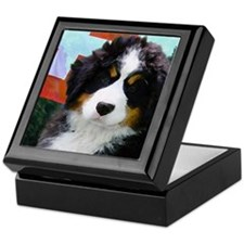 Swiss Berner Puppy Keepsake Box