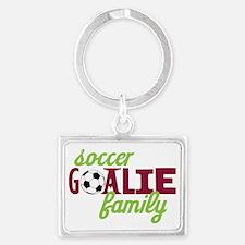 Soccer Goalie Family Landscape Keychain