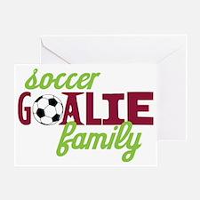 Soccer Goalie Family Greeting Card