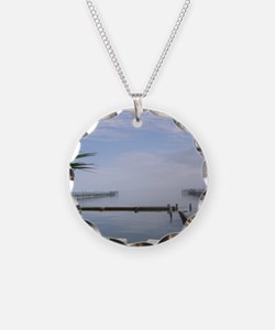 The Palm Tree Where the Ocea Necklace