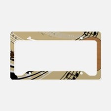 Abstract Guitar License Plate Holder