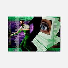 Cyberstalking Rectangle Magnet