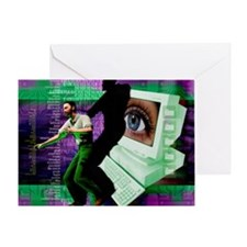 Cyberstalking Greeting Card