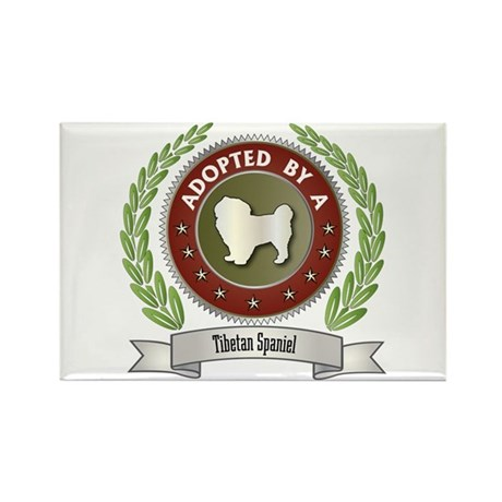 Spaniel Adopted Rectangle Magnet (10 pack)