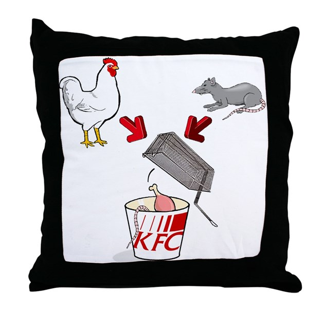 Throw Pillow By KFC_fried_rats
