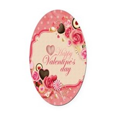 Happy Valentines Day to my love Oval Car Magnet