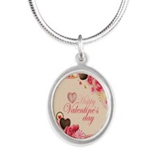 Happy Valentines Day to my lo Silver Oval Necklace
