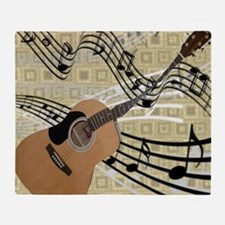 Abstract Guitar Throw Blanket