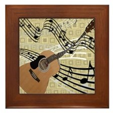 Abstract Guitar Framed Tile
