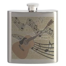 Abstract Guitar Flask