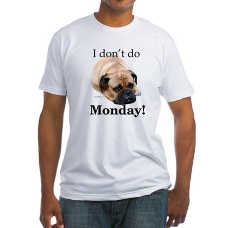 Bullmastiff Monday Fitted T-Shirt