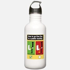 Proper Pee Pee Techniq Water Bottle