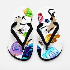 Delightful Dreidels Flip Flops