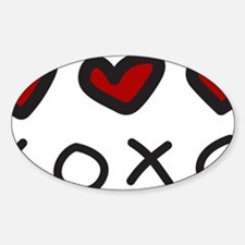 Hugs And Kisses Sticker (Oval)