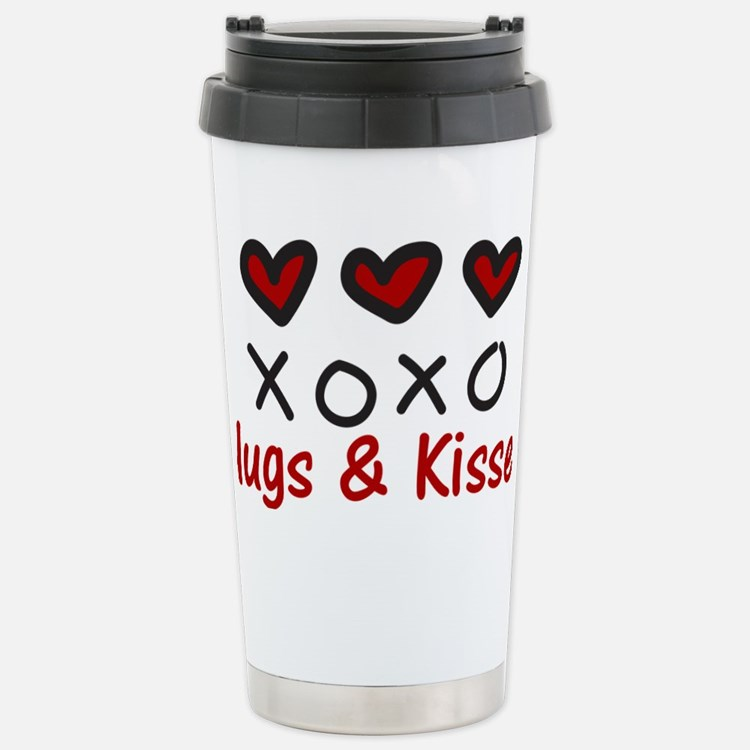 Hugs & Kisses Stainless Steel Travel Mug