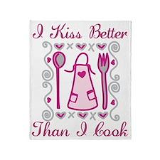 I Kiss Better Throw Blanket
