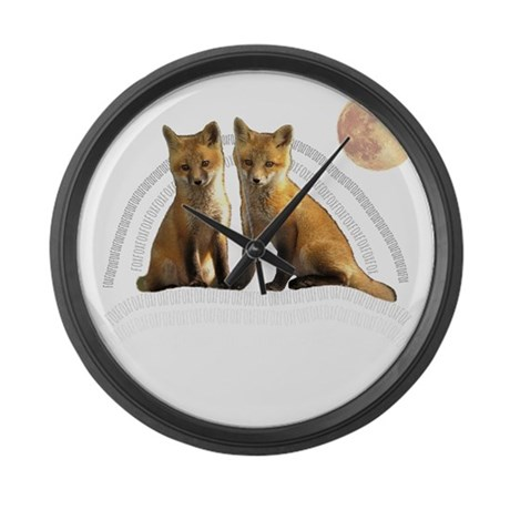 Fox Fox Large Wall Clock