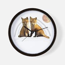 Fox Fox Wall Clock