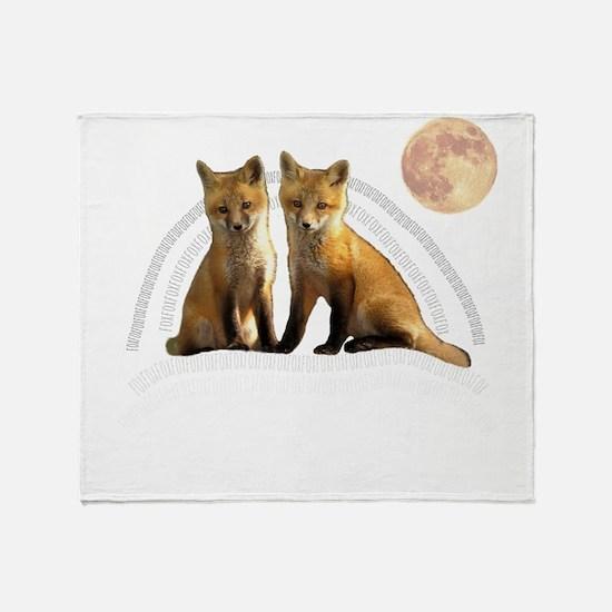 Fox Fox Throw Blanket