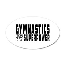 Gymnastics Is My Superpower Wall Sticker