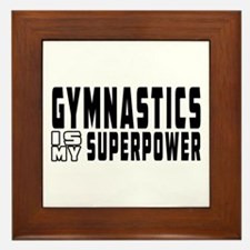 Gymnastics Is My Superpower Framed Tile