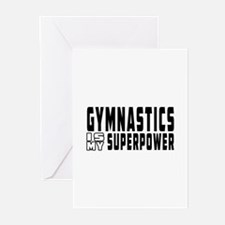 Gymnastics Is My Superpower Greeting Cards (Pk of