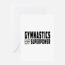 Gymnastics Is My Superpower Greeting Card