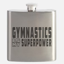 Gymnastics Is My Superpower Flask