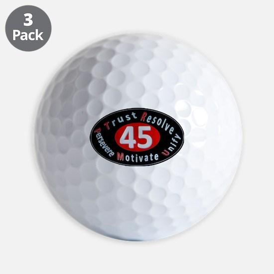 Super Oval Black Golf Ball